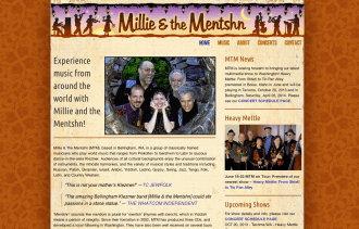 Millie and the Mentshn Klezmer - Bob Paltrow Web Design Bellingham WA 1